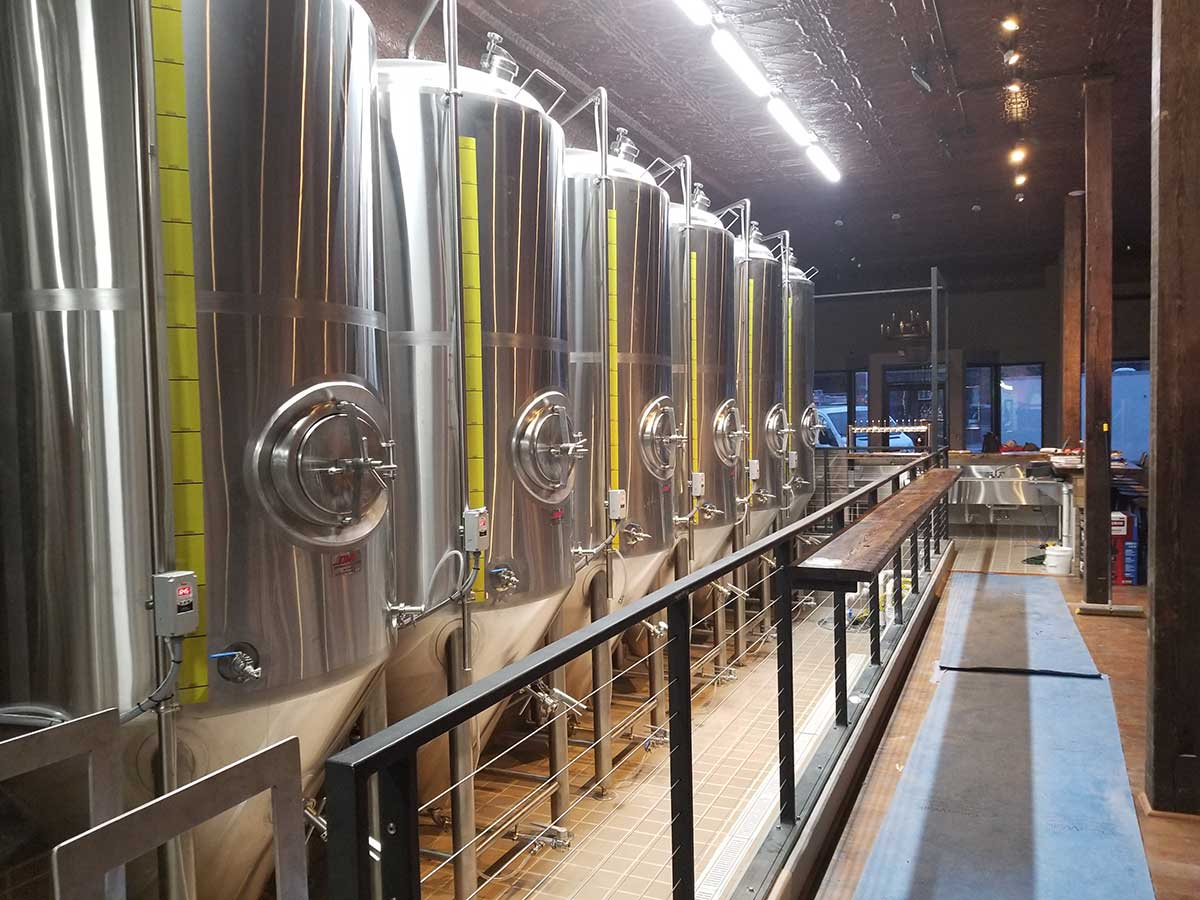 Spiral Brewing beer tanks